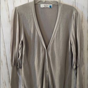 Anthropologie Cardigan Sweater Gray Large
